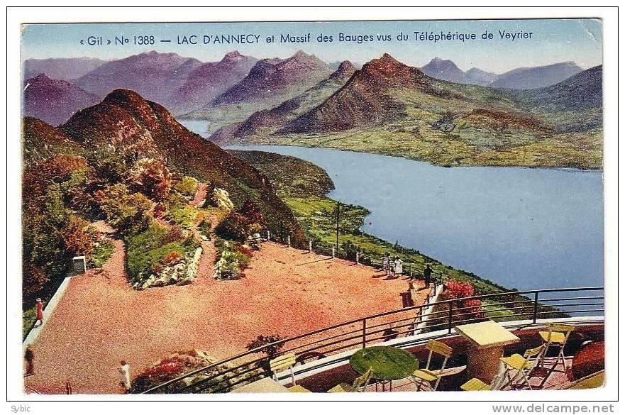 Lac D´ ANNECY Et Massif Des Bauges Vus Du Téléférique De Veyrier - Annecy