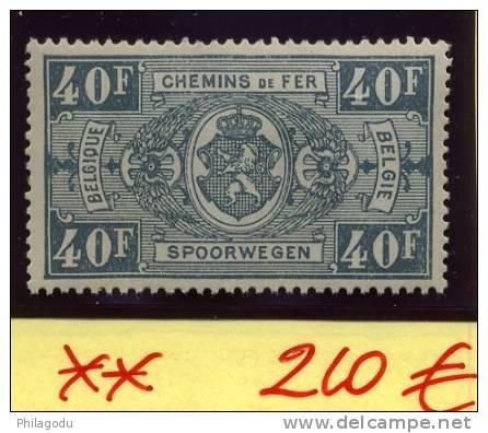 Le Bon 40F Gris  CF165 ++  Valeur Clef ++ Cote 210 € LUXE - Chemins De Fer