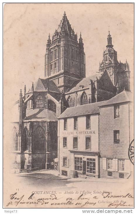 Cpa Du 50 - Coutances - Abside De L'Eglise St Pierre  Vers 1900 - Coutances