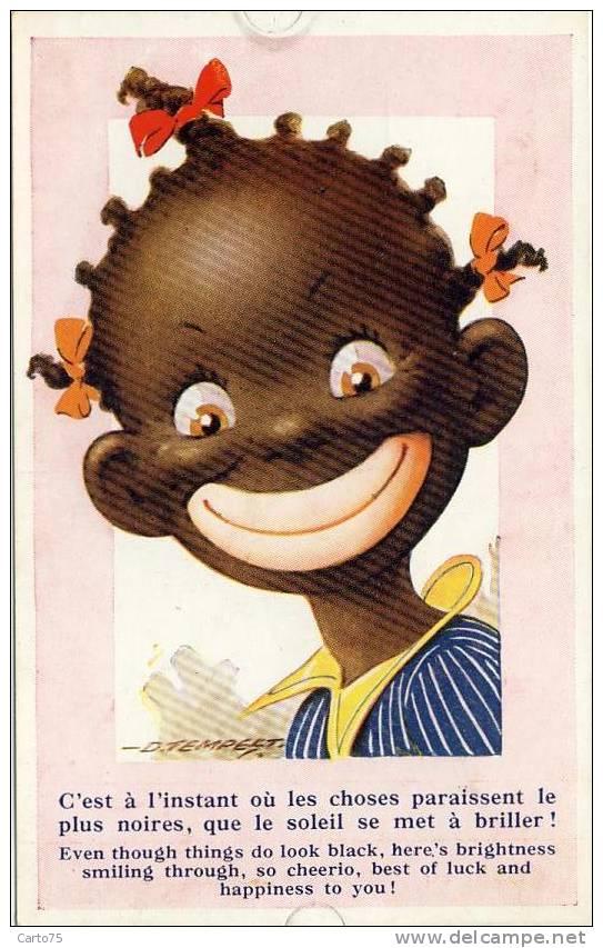 Fillette - Négritude - Noire - Sourire - Autres Illustrateurs