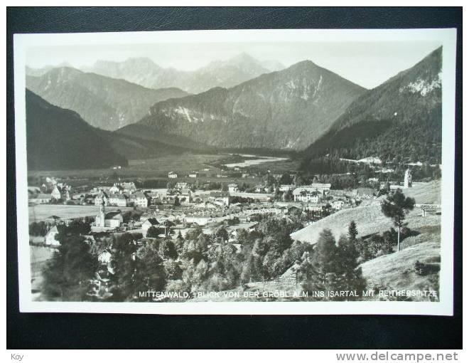 MITTENWALD BLICK VON DER GRÖBL ALM   AK 1933 - Mittenwald