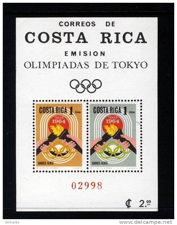 COSTA RICA - 1964 SUMMER OLYMPICS IN TOKYO MS FINE MNH ** - Summer 1964: Tokyo