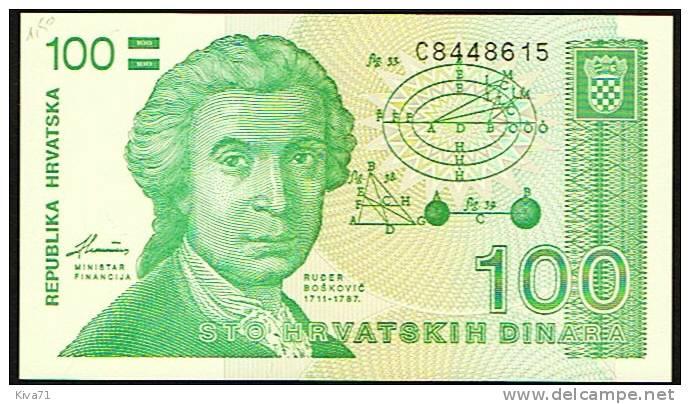 """100 Dinara   """"CROATIE""""  1991     UNC    Bc104. - Croatie"""