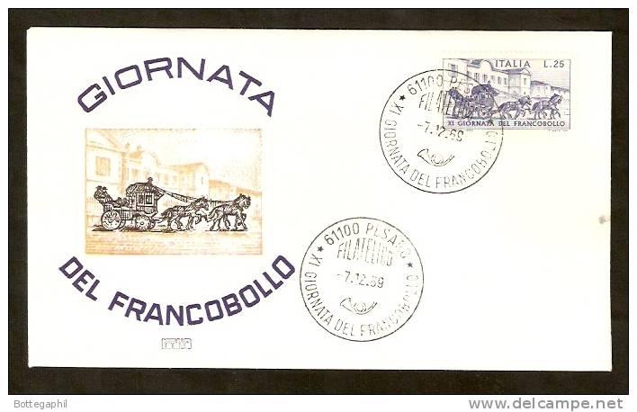 1969 - GIORNATA DEL FRANCOBOLLO - FDC !!!!!!!!!!!!!!! - 6. 1946-.. Repubblica