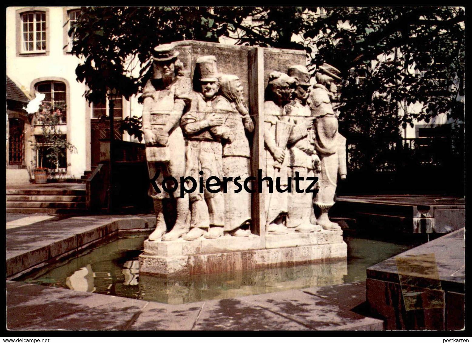 POSTKARTE KÖLN OSTERMANNBRUNNEN Brunnen Willi Ostermann Fountain Well Fontaine Puits Koeln cpa postcard AK Ansichtskarte