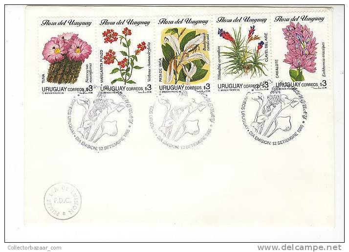 URUGUAY FDC COVER FLOWERS CACTUS PLANTS - Sukkulenten