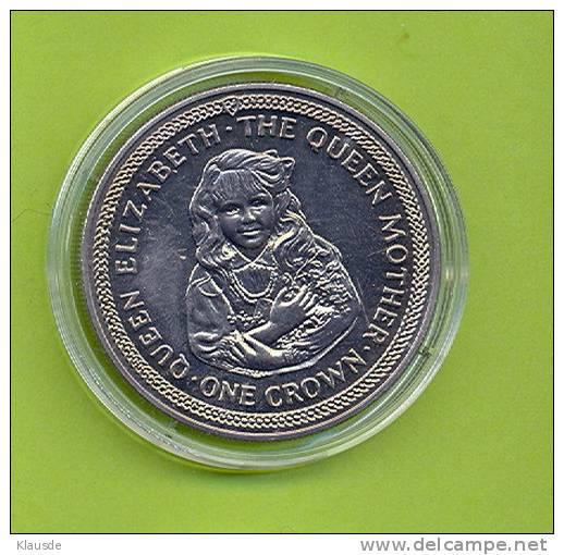 Queen Elisabet  The Queen Mother 1985 1 Crown CuNi. - Regionale Währungen