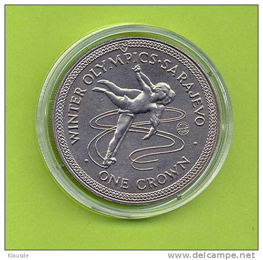 Winter Olympics Sarajewo 1984 1 Crown CuNi. - Regionale Währungen