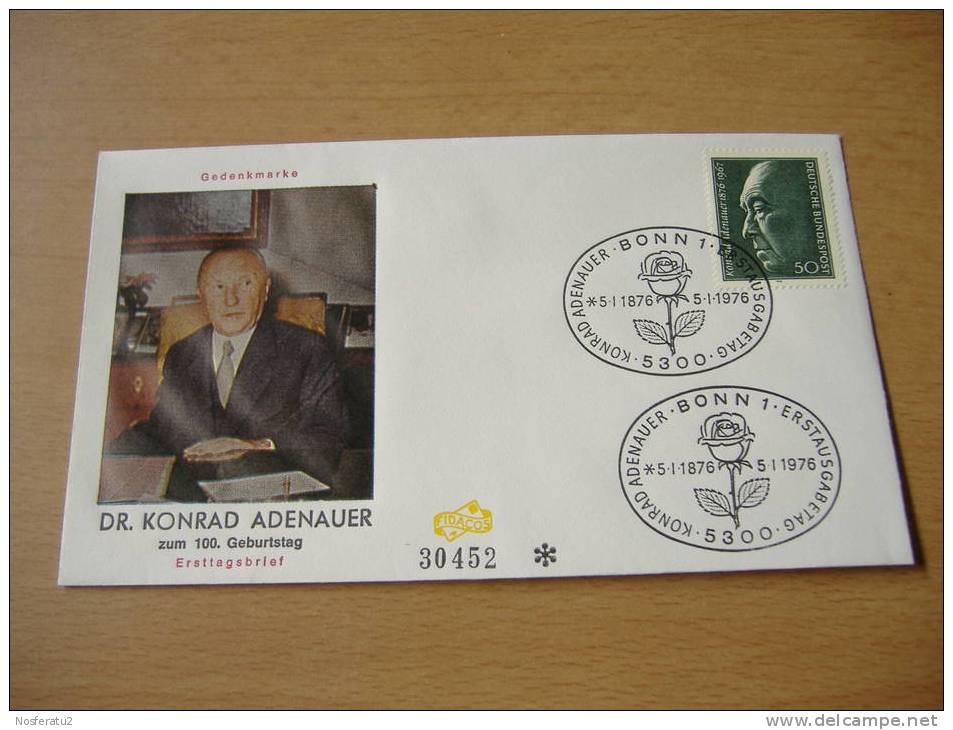 FDC Bund MiNr. 876 100.Geburtstag Dr.Konrad Adenauer - BRD