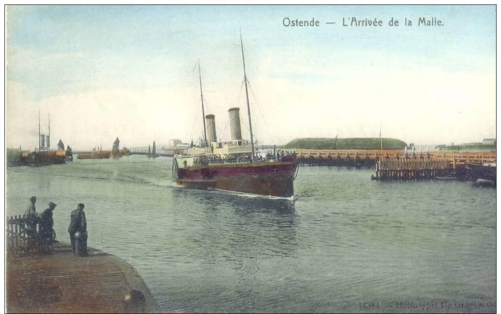 Oostende. L'arrivée De La Malle (164) - Nieuwpoort