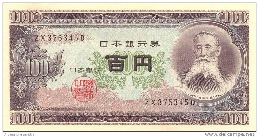 JAPON  /  JAPAN   100  YEN  1.953  KM#90C   PLANCHA/UNC/SC      DL-6647 - Japón