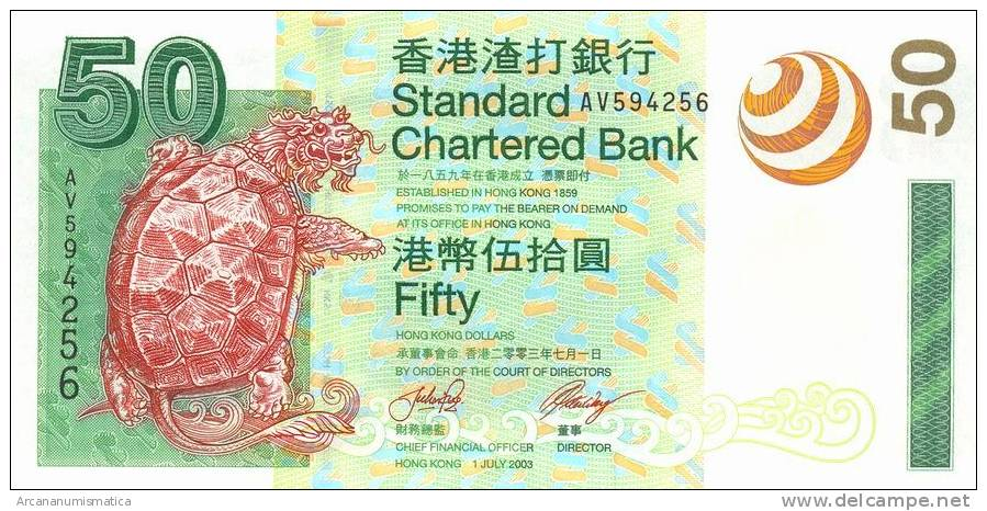 HONG  KONG    50 DOLLARS  1-7-2003   KM#292   PLANCHA/UNC/SC     DL-6661 - Hong Kong
