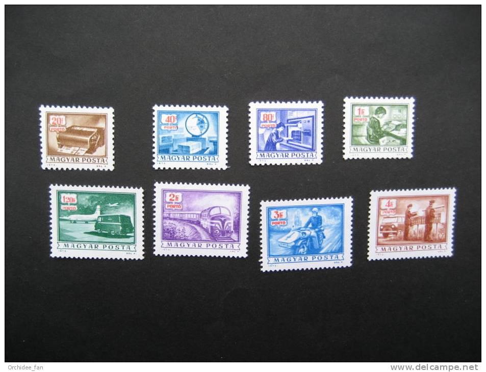 Ungarn 1973 Porto: Postdienst Mi 242-249 Postfrisch - Post