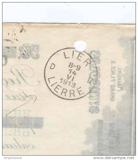 Reçu TP Pellens ST NICOLAS 1913 - Entete Illustrée MOUTON - Laines Pannier - Vandevelde  -- 10/674 - 1912 Pellens