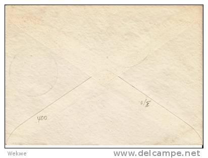 Brd085a/ Lübecker Dom 31.8.51 (Marienkirche) Sonderstempel-Erstverwendung Nach USA - Brieven En Documenten