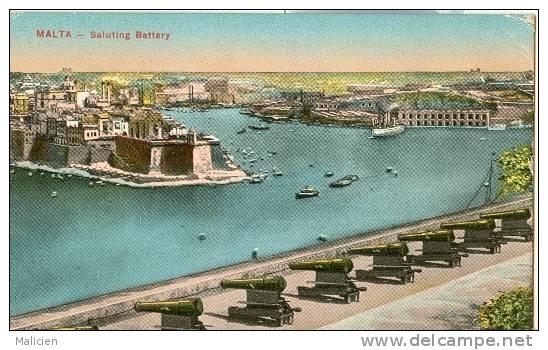 MALTE-ref 04- Malta -  Saluting Battery   - Bon Etat - Malte