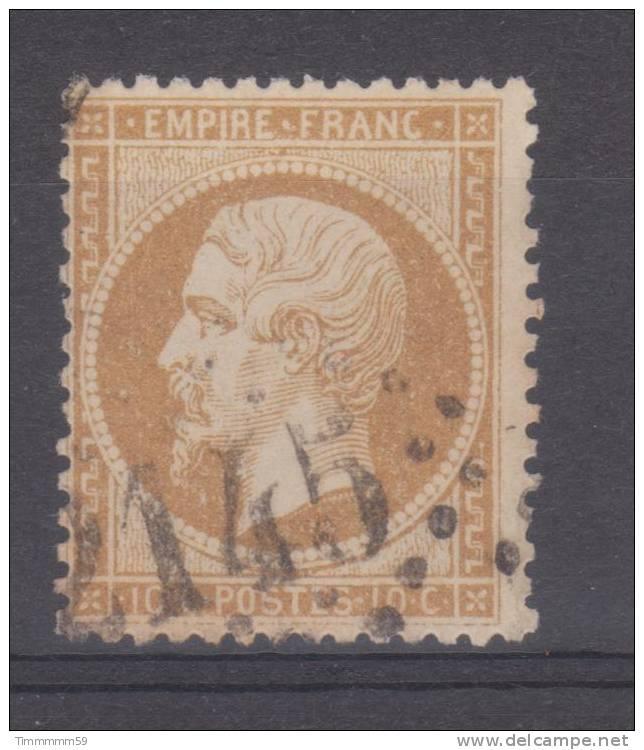 Lot N°7689   N°21 Bistre, Oblit GC 2145 LYON (68) - 1862 Napoléon III