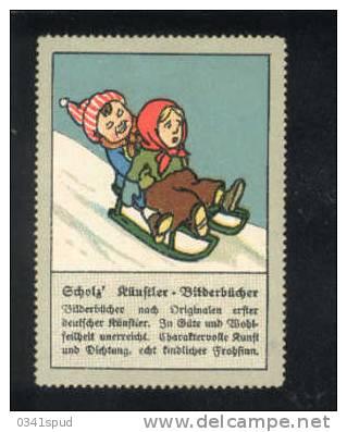 Allemagne  Vignetta Label Avec Charnière Slittino  Luge - Hiver