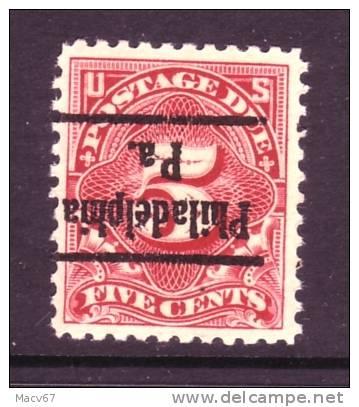 U.S.J 64   Perf 11   **  PA.   No Wmk. 1917 Issue - United States
