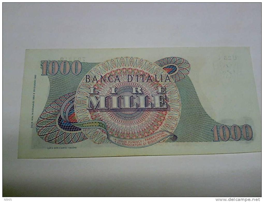 REPUBBLICA ITALIANA -  LIRE MILLE ( 1000 ) GIUSEPPE VERDI  1° TIPO ANNO 14/01/1964    FDS - 1000 Lire