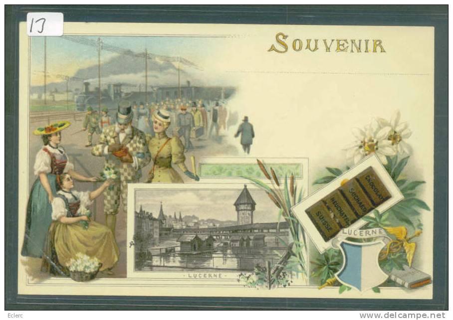 PUBLICITE CHOCOLAT SUCHARD - SOUVENIR DE LUCERNE   - TB - Advertising