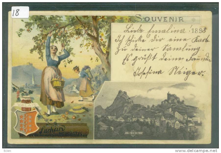 PUBLICITE CHOCOLAT SUCHARD - SOUVENIR DE SION - VALAIS   - TB - Advertising