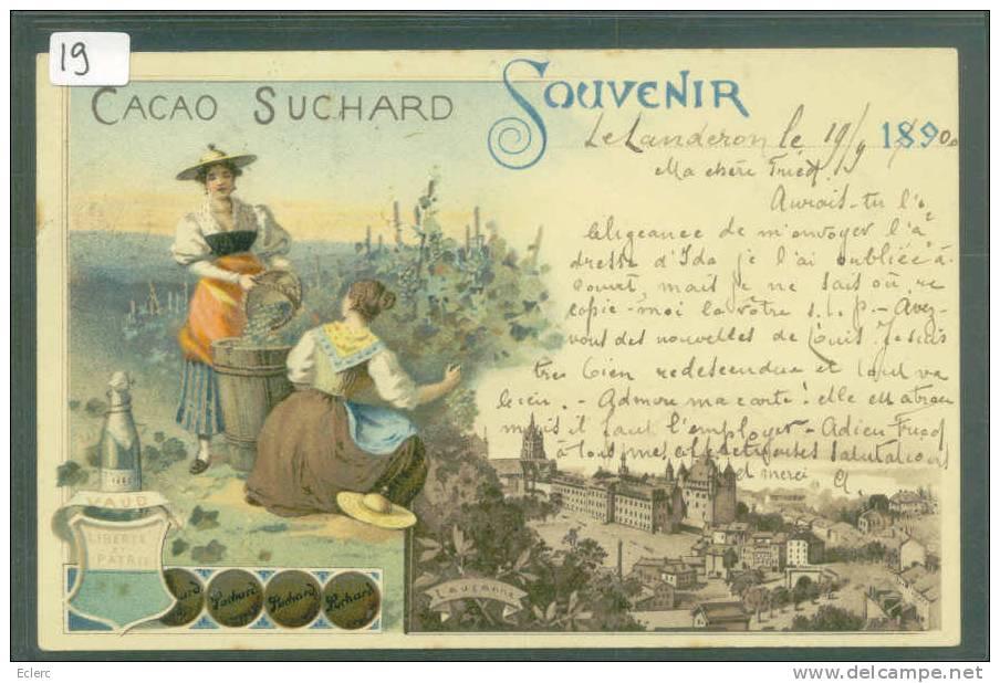 PUBLICITE CHOCOLAT SUCHARD - SOUVENIR DE LAUSANNE - VAUD   - TB - Advertising