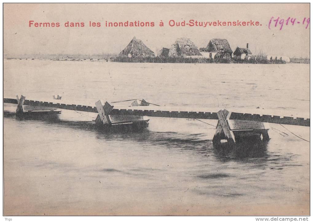 Oud-Stuyvekenskerke - Fermes Dans Les Inondations (1914-1918) - Diksmuide