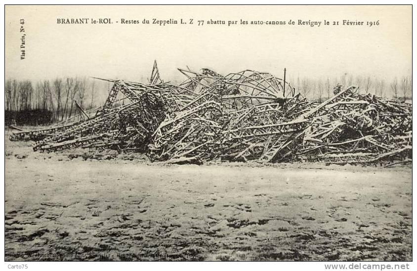 Aviation - Zeppelin Abbatu - Brabant Le Roi - Militaria - Dirigibili
