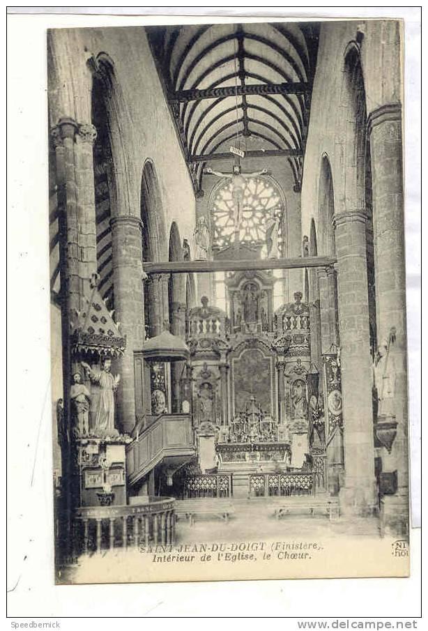 13577 Saint Jean Du Doigt , Intérieur De L'Eglise Le Choeur . ND - Saint-Jean-du-Doigt