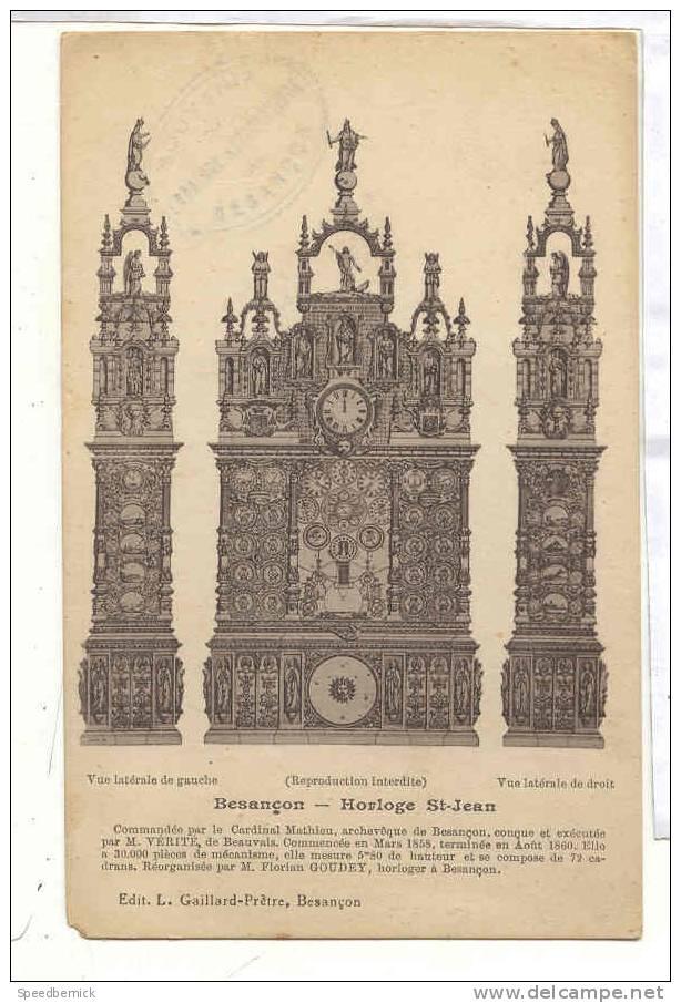 13563 Besançon Horloge Saint Jean  . Gaillard Pretre - Besancon