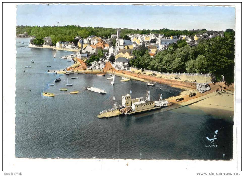 13491 BENODET - EN AVION AU DESSUS DE Départ Bac Sainte Marine PANORAMA  PORT - Edit Lapie 24  Colorisée - Bénodet