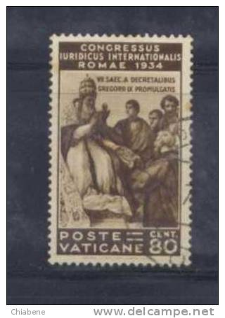 A241 - VATICANO 1935 , Giuridico : 80 Cent N. 45  Papa Gregorio IX - Usati