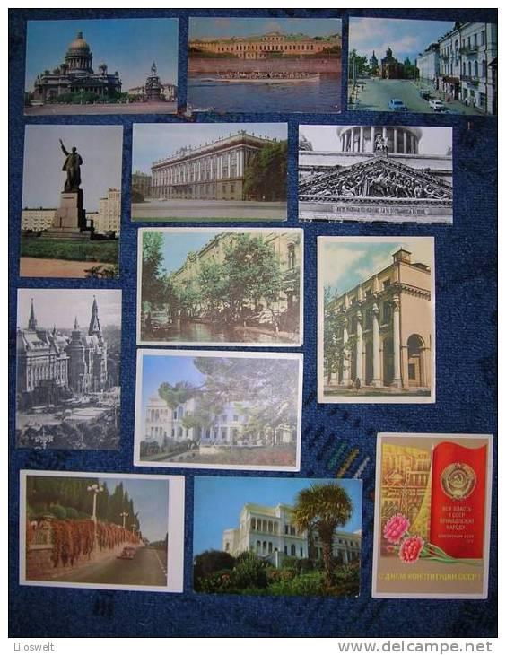 13 AK Mockba Moskau Leningrad Krim Livadia Rußland - Cartes Postales