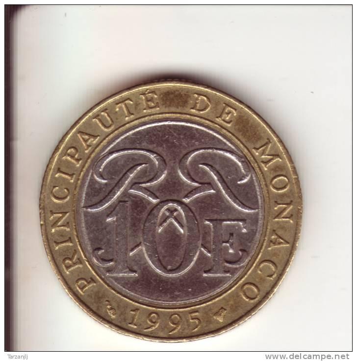 10 Franc Rainier III Prince De Monaco 1995 - Monaco