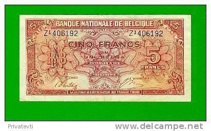 *Belgie-Belgique* Bankbiljet 5 Francs Londen.Lot 16192 - [ 2] 1831-... : Belgian Kingdom