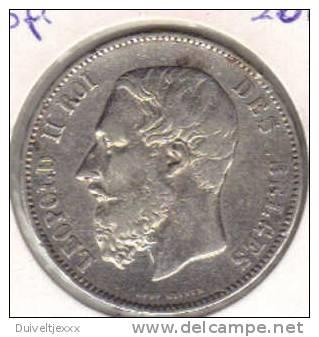 %%% LEOPOLD 2 BELGIE 5 FR 1875  ZELDZAAM NR 0011%%% - 1865-1909: Leopold II