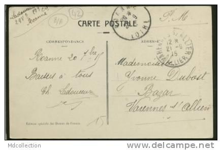 """42 ROANNE Rue Du Lycée Et Les Grands Magasins """"aus Dames De France"""" - Roanne"""