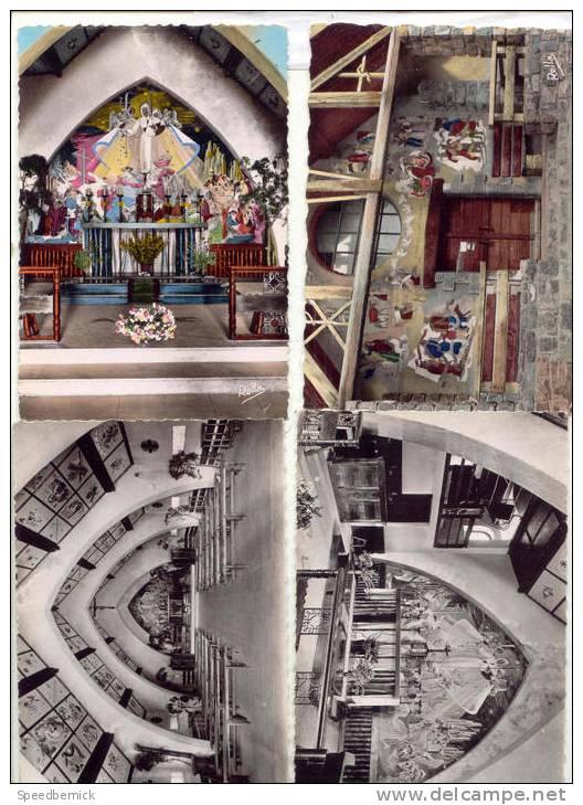 14011- 4 Cpm Valberg. - Sanctuaire De Notre-Dame Des Neiges . Choeur Fresque Cassarini Mangin . - Non Classés