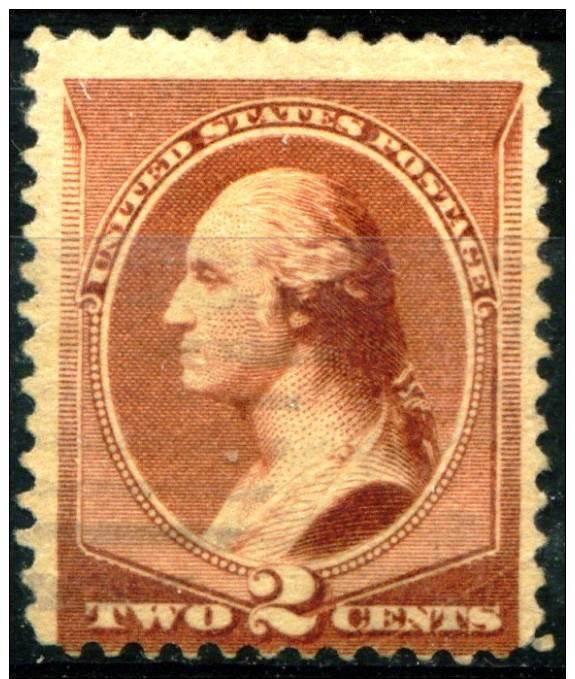 SC 210 Washington 2c Issue Of 1883 With An Extremely Light Cancel . - 1847-99 Emissioni Generali
