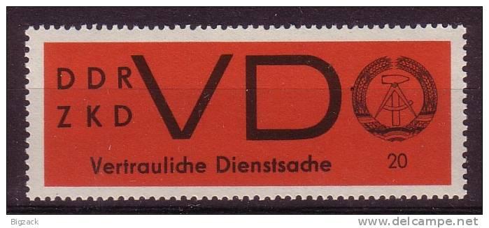 DDR Dienstmarke D Vertrauliche Sache Minr.3 Postfrisch - DDR