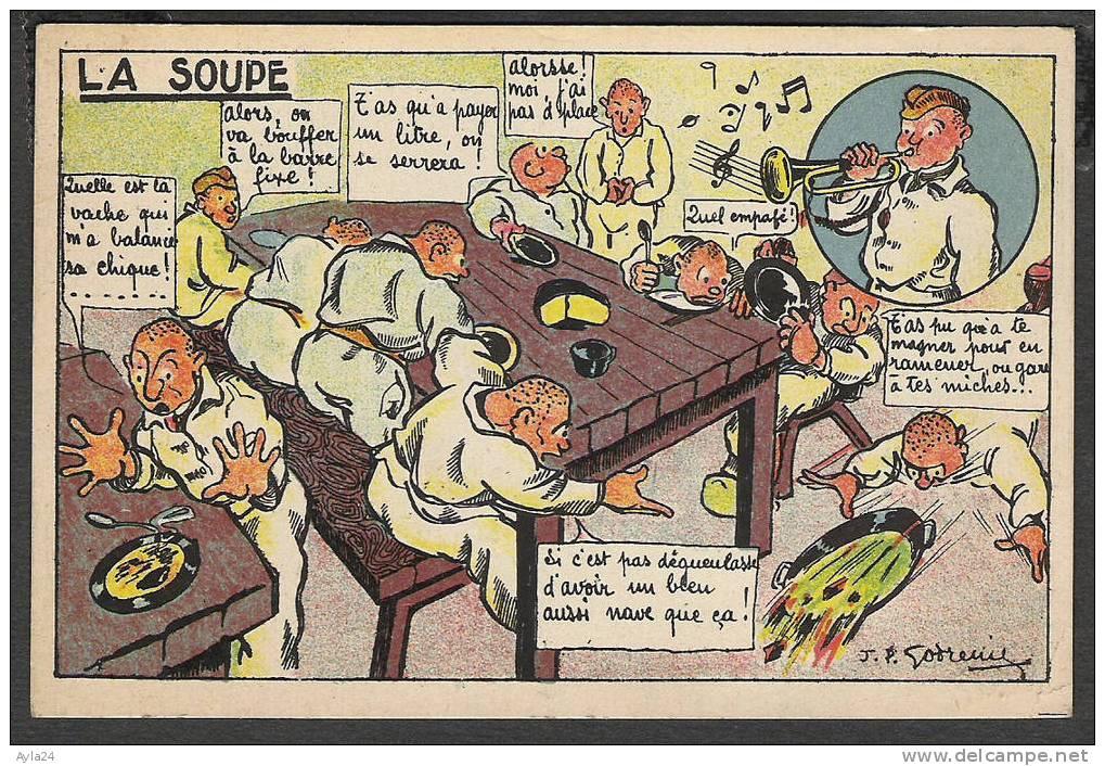 CPA  Militaria   Soldat  La Soupe  1915 - Humoristiques