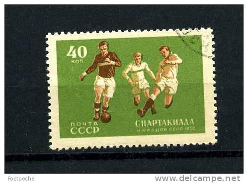RUSSIE  1956 6° SPARTAKIADE    FOOTBALL   N° 1836 OBL   Référence N° 5477 - Football