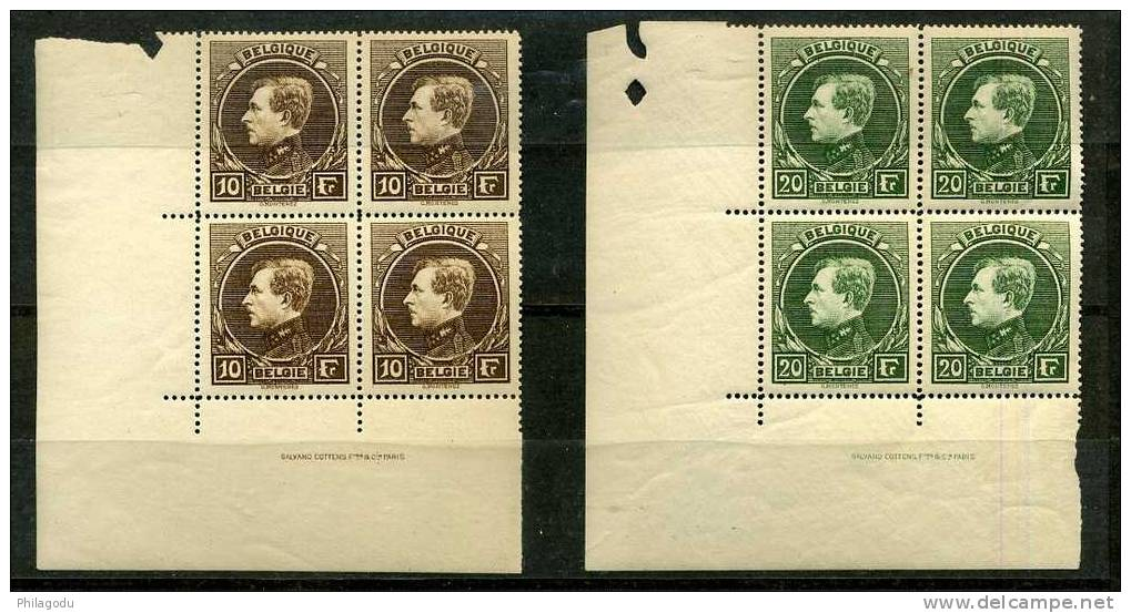 MONTENEZ PARIS 289/292** Blocs De 4 Coin De Feuille GRAND LUXE  + +  Cote 3160 Euros   Postfris ++ - 1929-1941 Grand Montenez