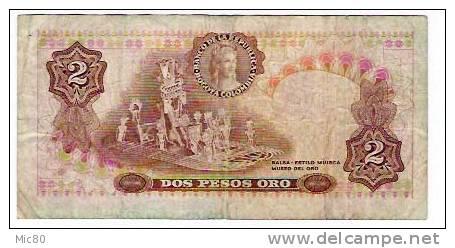 Colombie Billet 2 Pesos Oro 1973 - Colombia