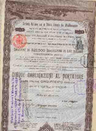 SOCIETA ITALIANA PER LE STRADE FERRATE DEL MEDITERRANEO  (1888 ) - Chemin De Fer & Tramway