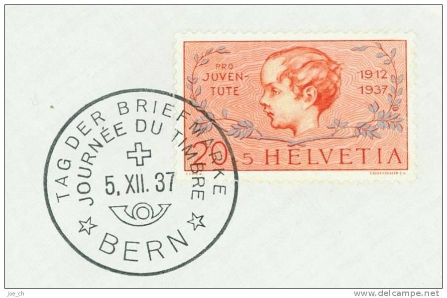 Schweiz/Suisse: Tag Der Briefmarke 1937, 3 Scans - Pro Juventute
