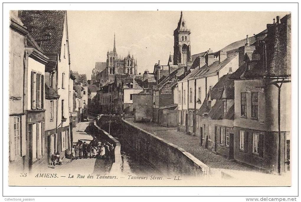 Cpa , 80 , AMIENS , Rue Des Tanneurs , Animée - Amiens