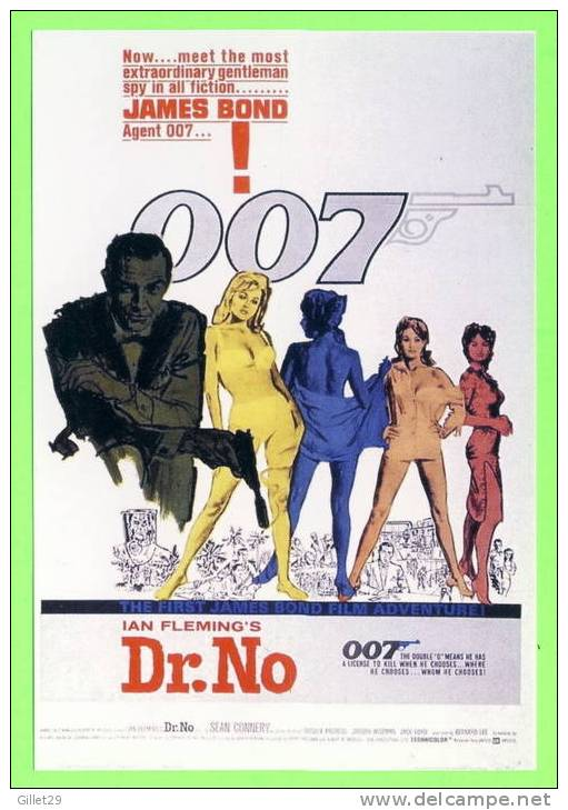 AFFICHE CINÉMA - DR. NO - JAMES BOND,AGENT 007 - SEAN CONNERY - IAN FLEMINGS - URSULA ANDRESS - - Posters On Cards