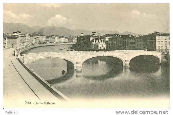 ITALIE-ref 572- Pisa -pise - Ponte Solferino    - Carte Bon Etat - - Pisa